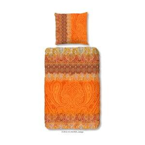 Obliečky na jednolôžko z bavlneného saténu Muller Textiels Sangria, 140×200 cm
