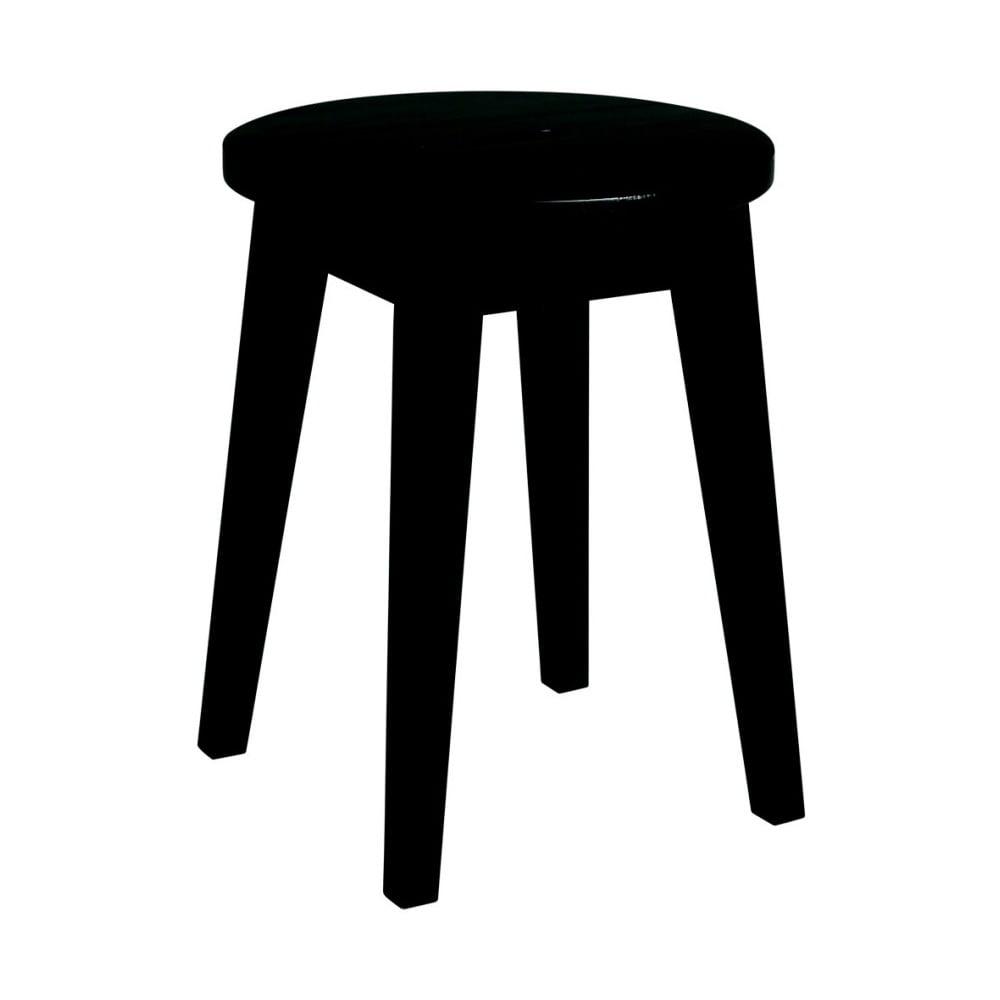 Čierna nízka dubová stolička Rowico Frigg