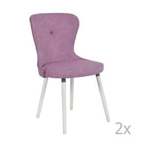 Sada 2 ružových stoličiek RGE Betty