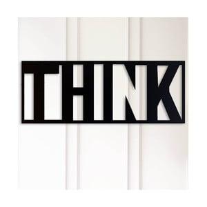 Kovová nástenná dekorácia Think