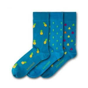 Sada 3 párov unisex ponožiek Black&Parker London Morrab Gardens, veľkosť 37 - 43