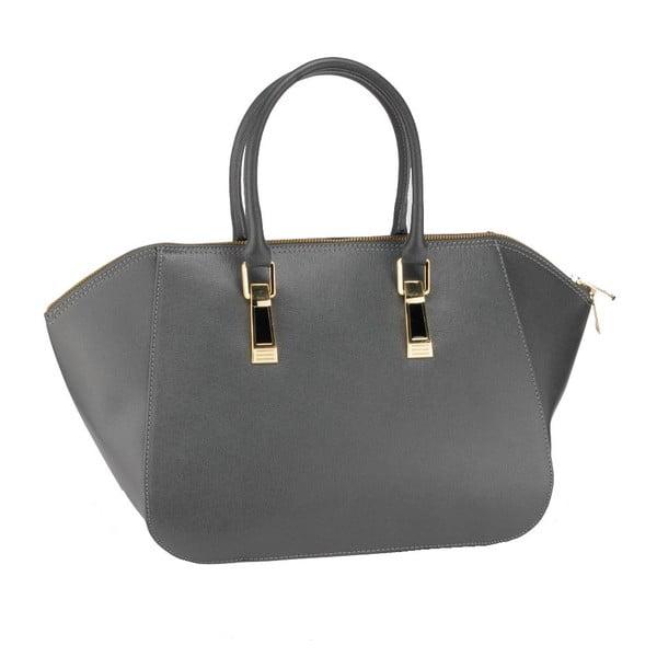 Kožená kabelka Ugni, sivá