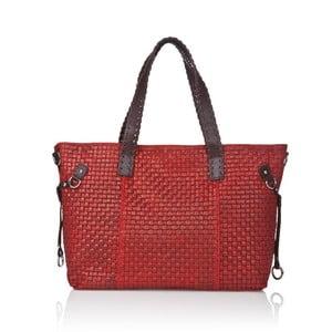Kožená kabelka Markese 1156 Red