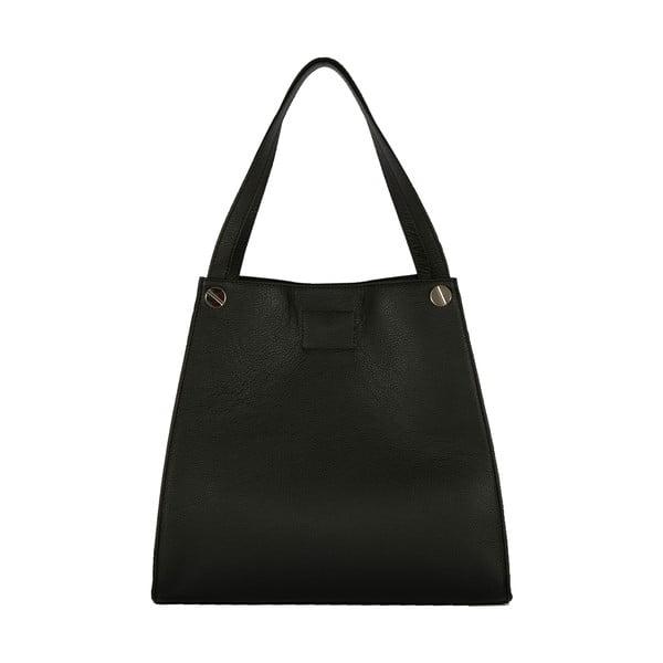 Čierna kabelka z pravej kože Andrea Cardone Fiorella
