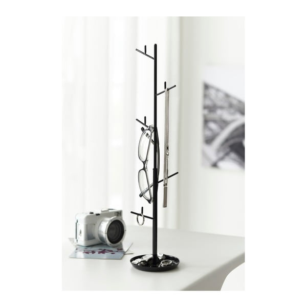 Čierny stojan na šperky Yamazaki Branch