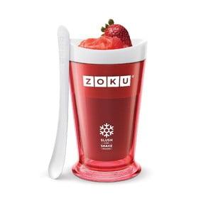 Červený výrobník ľadovej triešte Zoku Slush & Shake