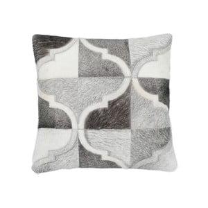 Kožený vankúš Eclipse Grey, 45x45 cm