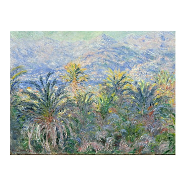 Obraz Claude Monet - Palm Trees at Bordighera, 60x45 cm