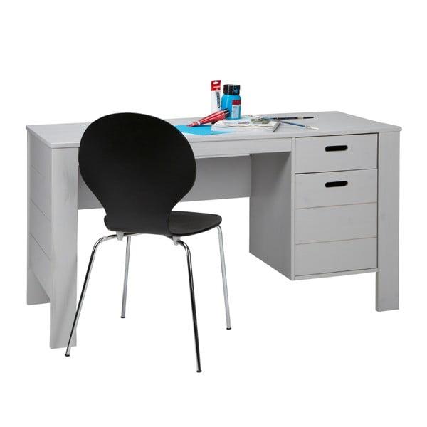 Pracovný stôl Sale, sivý