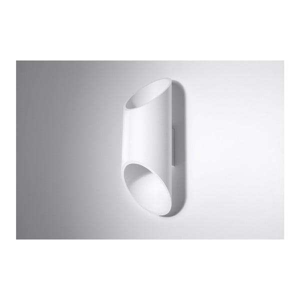 Biele nástenné svetlo Nice Lamps Nixon, dĺžka 30 cm