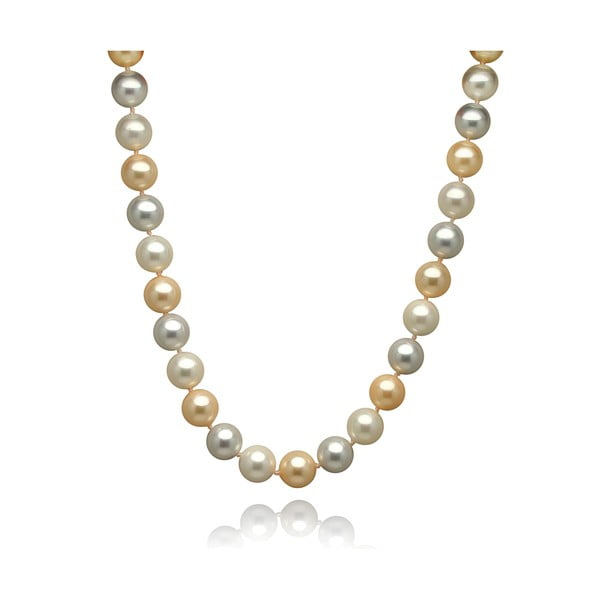 Zlato-strieborný perlový náhrdelník Mara de Vida Only Me, dĺžka 52 cm
