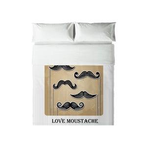 Obliečky Hipster Love Moustache, 200x200 cm