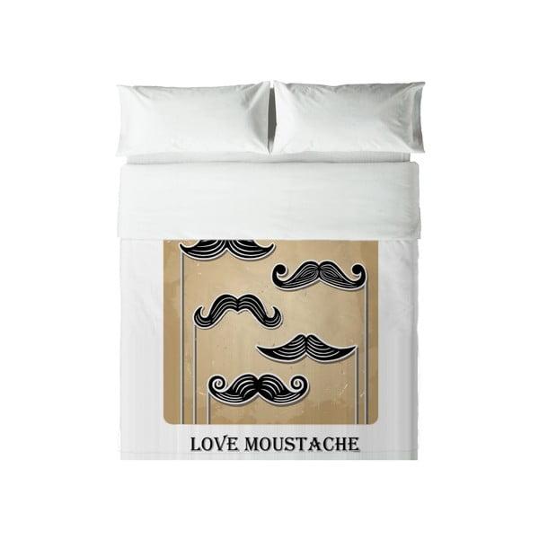 Obliečky Hipster Love Moustache, 240x220 cm