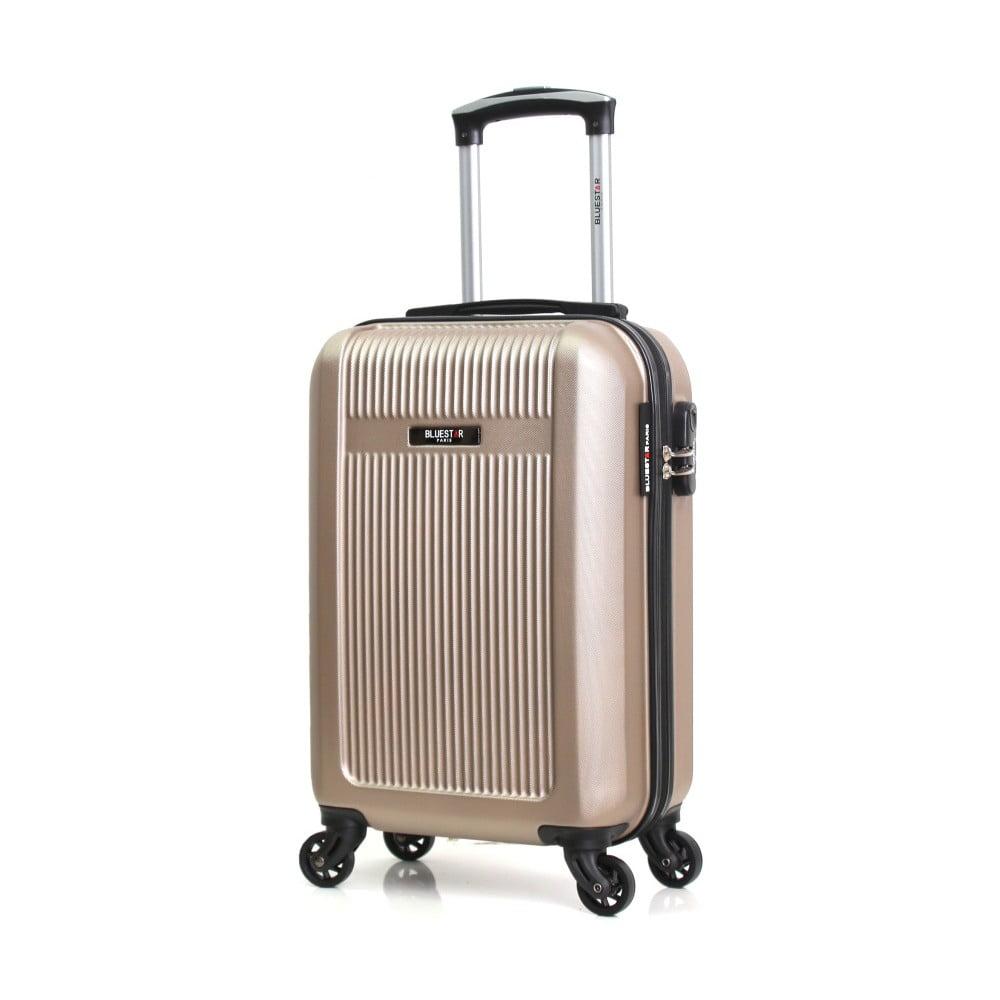 Béžový cestovný kufor na kolieskach Bluestar Latino, 37 l