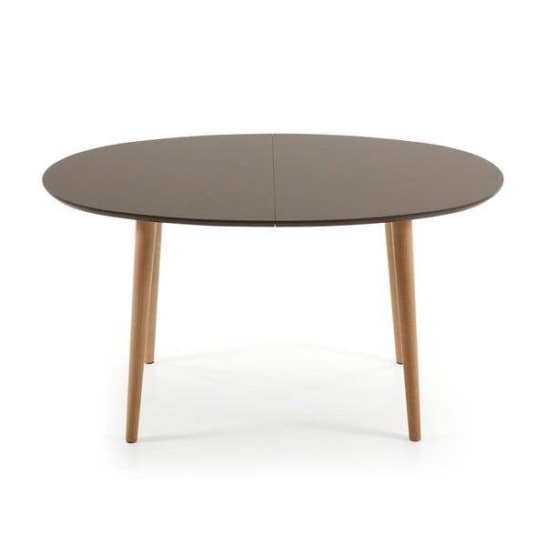 Sivý rozkladací jedálenský stôl La Forma Oakland, 140-220 cm