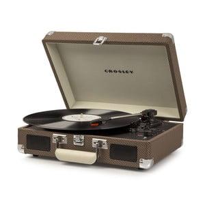 Hnedý gramofón Crosley Cruiser Deluxe