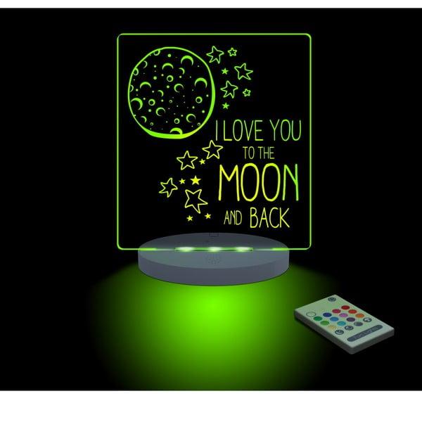 Detské LED nočné svetielko The Moon and Back