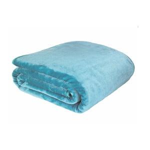 Modrá deka Catherine Lansfield Basic Cuddly, 200×240 cm
