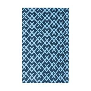 Modrý koberec Floorita City Loft labirinth, 130 x 190 cm