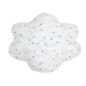 Biely vankúš s modrými hviezdičkami Art For Kids Cloud, 50×40cm