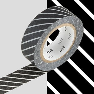 Washi páska Rayé Noir