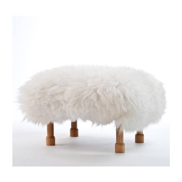 Stolička z ovčej kože Dilys Ivory