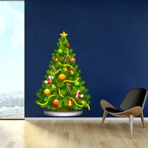 Vianočná samolepka Fanastick Arbre de Noel