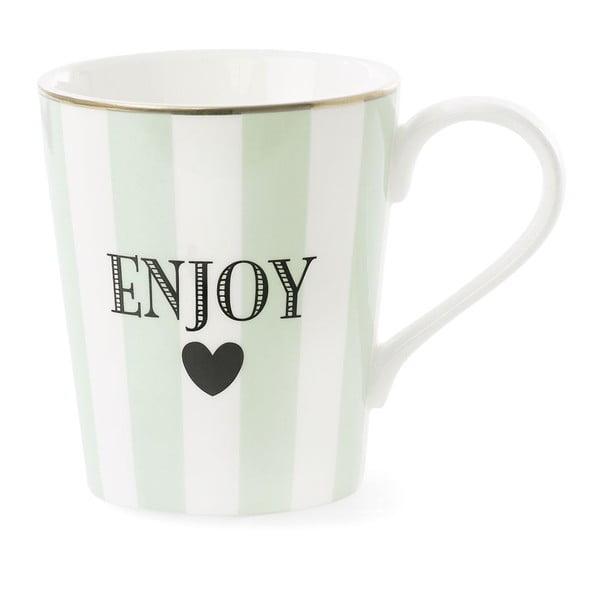 Keramický hrnček Miss Étoile Coffee Enjoy Stripe Aqua Green