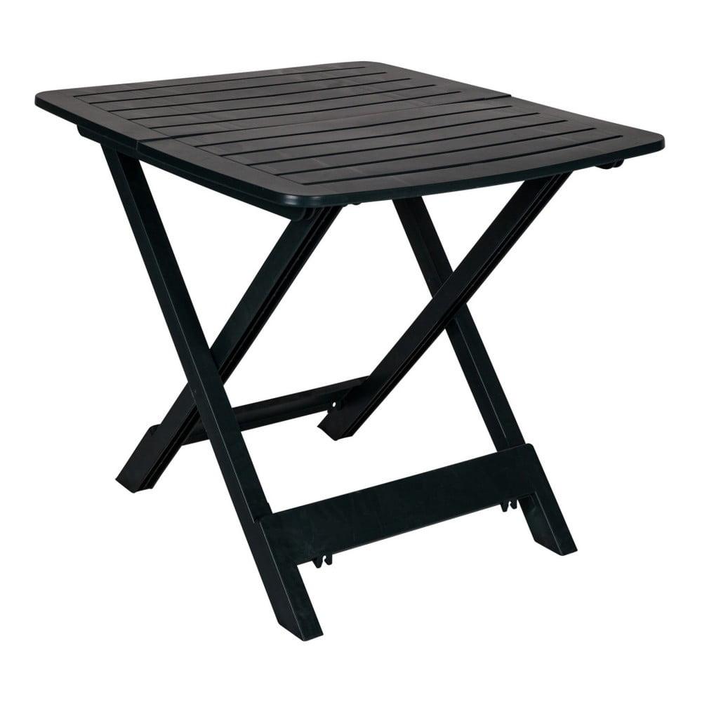 Tmavozelený skladací záhradný stolík Crido Consulting Hunna