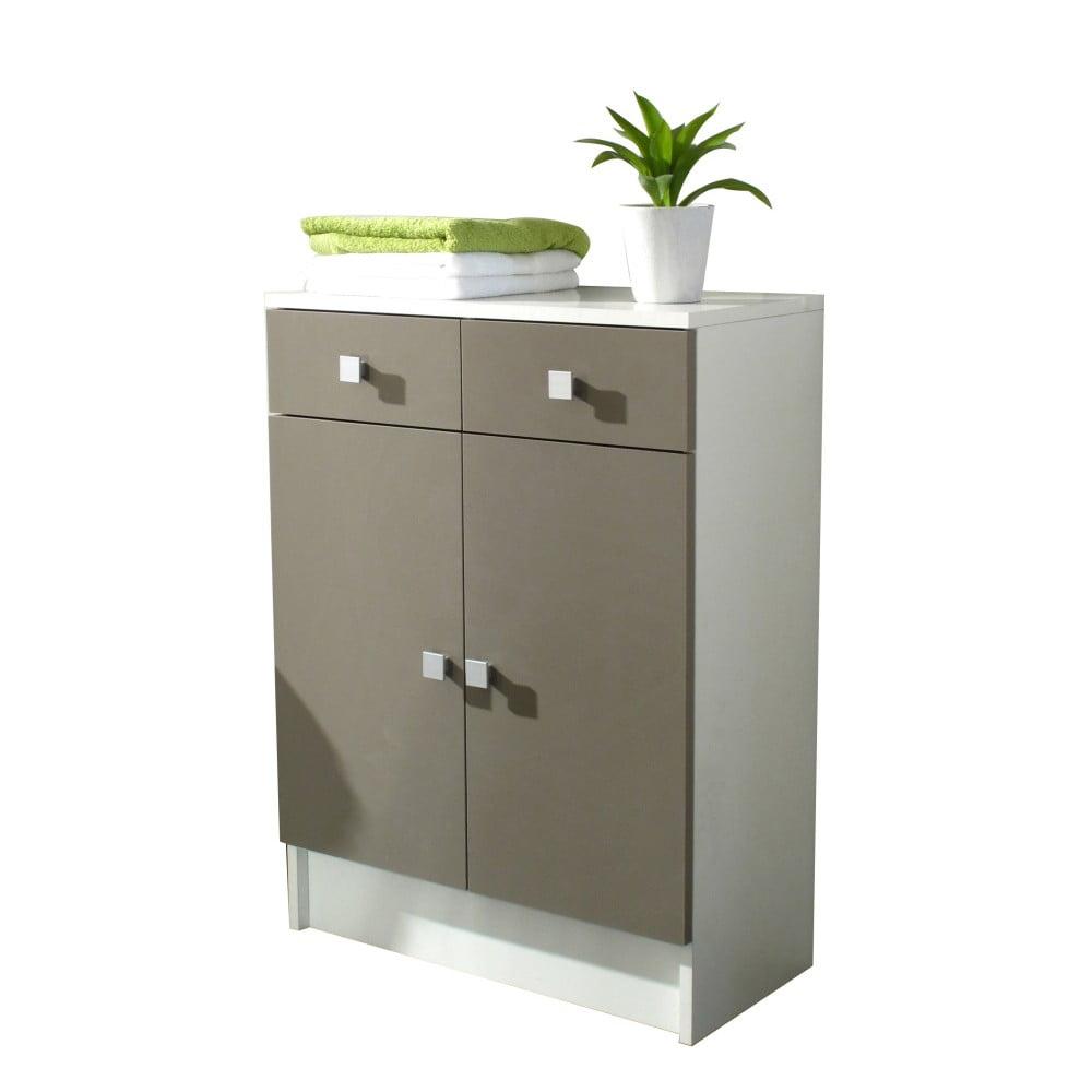 Sivohnedá kúpeľňová skrinka Symbiosis Combi, šírka 60 cm