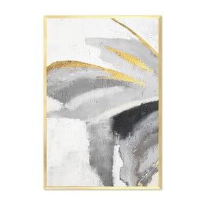 Nástenný ručne maľovaný obraz JohnsonStyle The Golden Mariposa, 63 x 93 cm