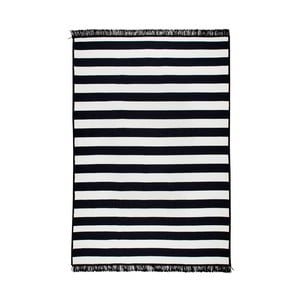 Čierno-biely obojstranný koberec Sentinus, 120×180 cm