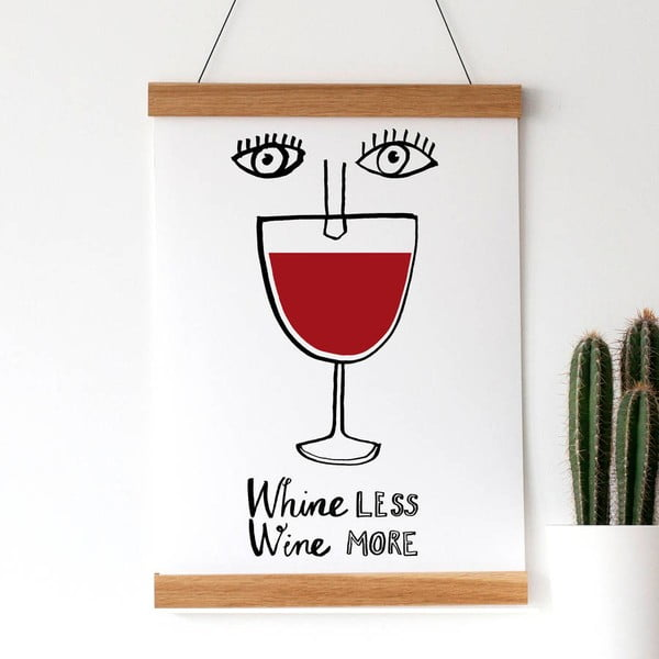 Plagát Wine More, 30x40 cm