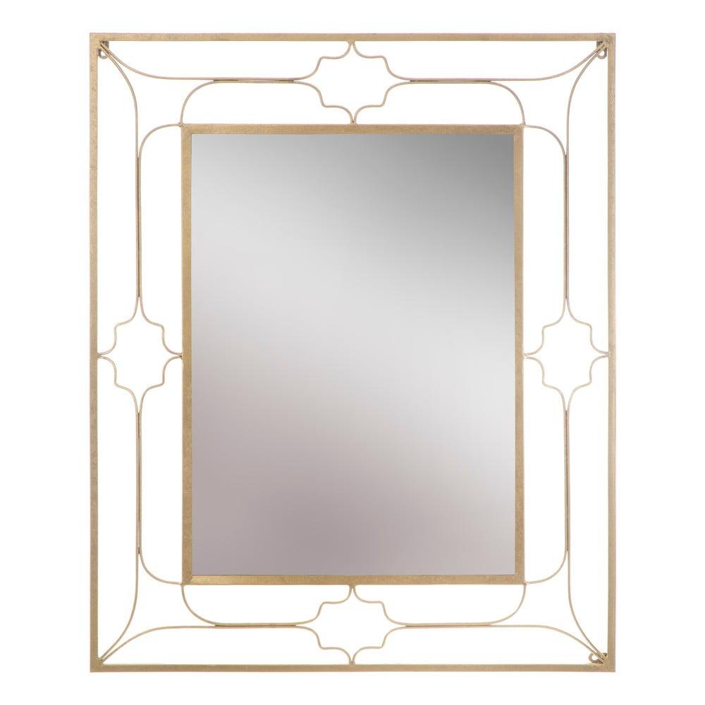 Nástenné zrkadlo v zlatej farbe Mauro Ferretti Balcony, 80 × 100 cm