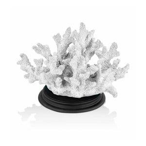 Biela dekoratívna soška korálu The Mia Coral, 27 x 17 cm
