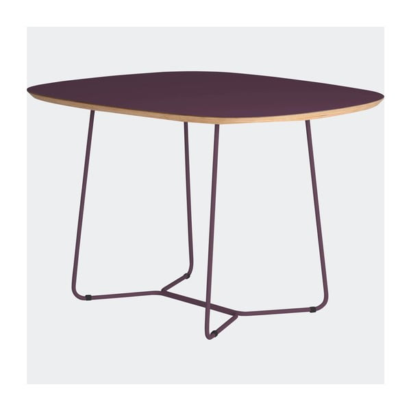 Stôl Maple stredný, fialový
