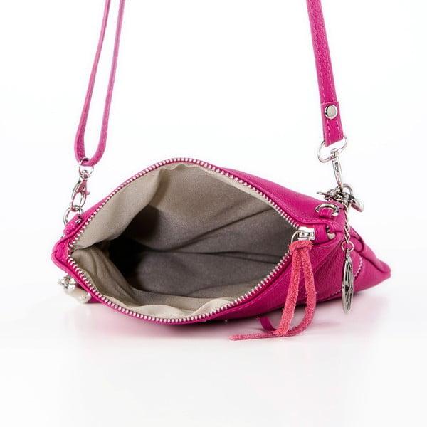 Kožená kabelka Roberto, fuchsia