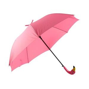 Ružový dáždnik s motívom plameniaka Le Studio Flamingo