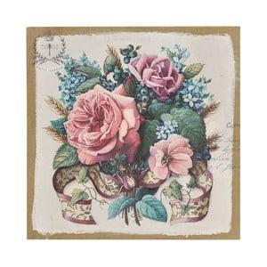 Plátno Flowers Paint, 38x38 cm