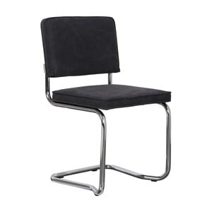 Sada 2 čiernych stoličiek Zuiver Ridge Rib Kink Vintage