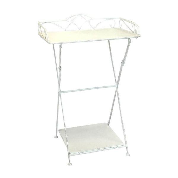 Železný stolík s poličkou Vintage, 51x80x38 cm