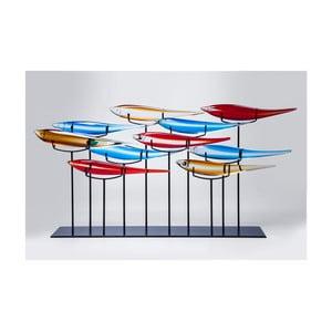 Dekorácia s motívom farebných rýb Kare Design, 20 × 80 cm