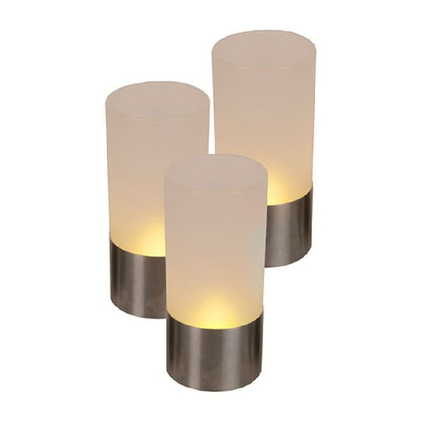 Sada 3 LED lampášikov Flickering