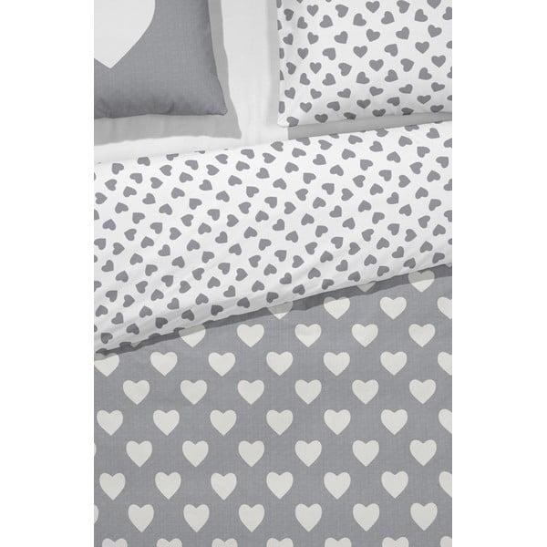 Obliečky Hearts Grey, 200x200 cm