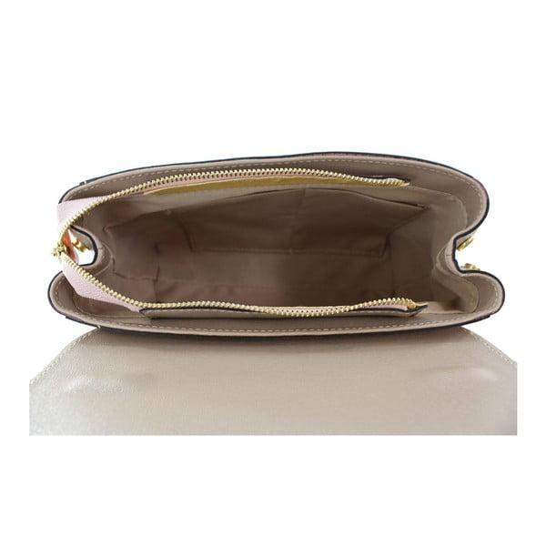 Púdrová kožená kabelka Chicca Borse Maria