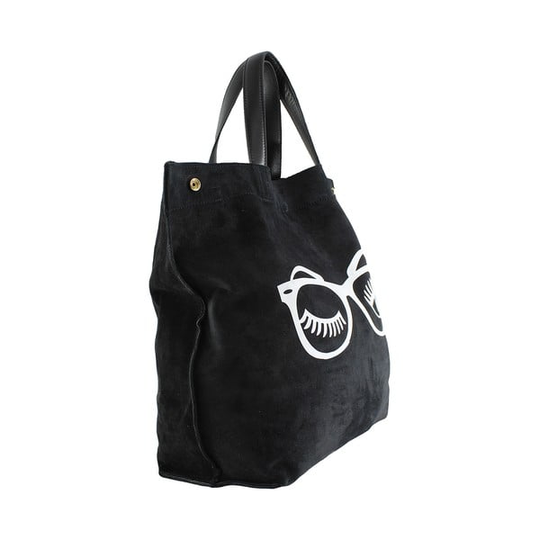 Kožená kabelka Wink, čierna