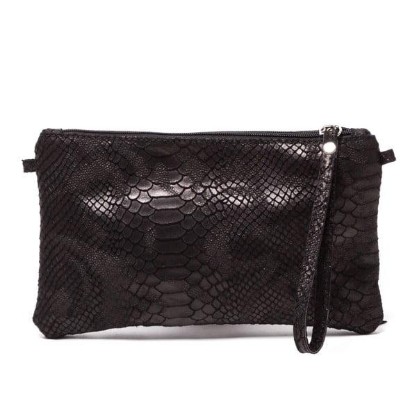 Kožená kabelka Carlita, čierna