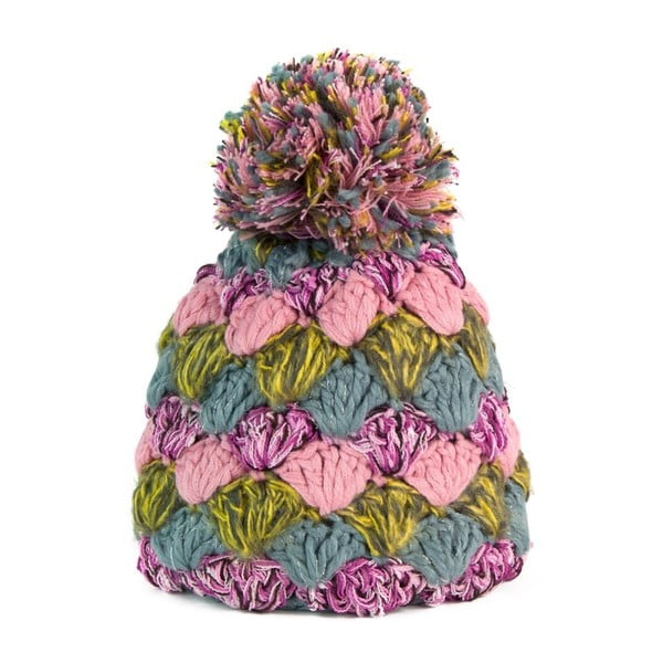 Farebná čiapka s brmbolcom Lima