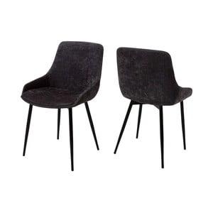 Tmavosivá jedálenská stolička Canett Merick
