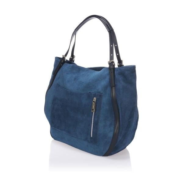 Kožená kabelka Krole Karin, modrá
